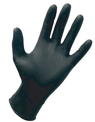 New Large Black Nitrile Powder-free Gloves Box Of 100