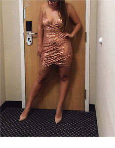 Gorgeous Rose Gold Sequenced Dress
