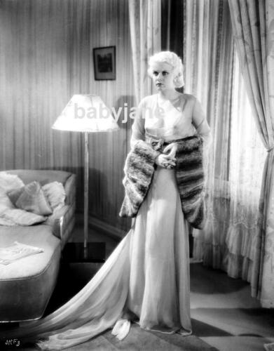 086 JEAN HARLOW SEXY IN SHEER SEE THRU DRESS PRE-CODE PHOTO