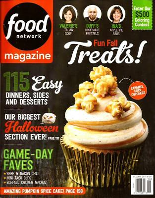 FOOD NETWORK Magazine, October 2017 Fun Fall Treats Halloween cookbook vol.10 #8 - Halloween Food Treats