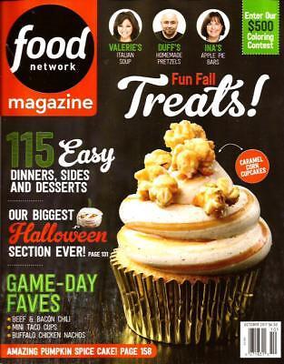 Halloween Food 2017 (FOOD NETWORK Magazine, October 2017 Fun Fall Treats Halloween cookbook vol.10)