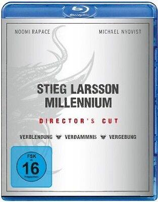 Stieg Larsson - Millennium Box Trilogie Blu-ray Verblendung+Verdammnis+Vergebung