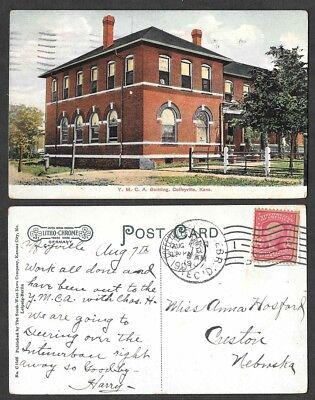 1907 Kansas Postcard   Coffeyville   Y M C A    Litho Chrome  C1546