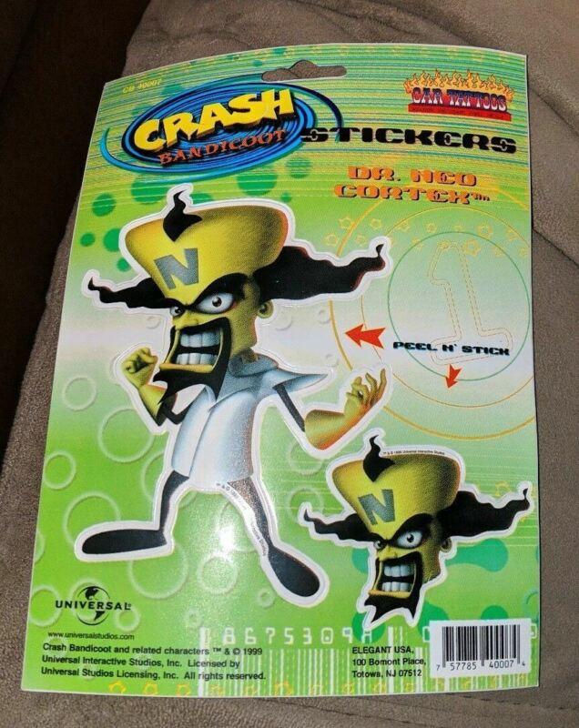 Crash Bandicoot Dr Ned Cortex Vinyl Car Decal Window Sticker Tattoo NEW 1999 HTF