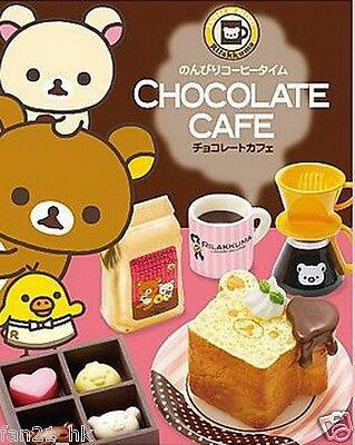 Re-ment Dollhouse Miniature SAN-X Rilakkuma Bear Cafe Cake Chocolate Full Set