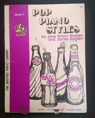 1980 Pop Piano Styles Sheet Music Book Level 1 Boogie Blues Happy Days Lonely C1