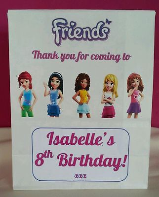 Themes For A Girl Birthday Party (Lego Friends Theme Personalised Party Bags for a Girls)