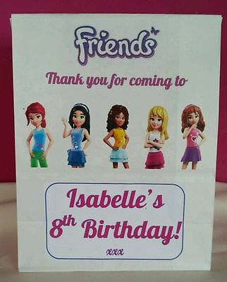 Lego Friends Theme Personalised Party Bags for a Girls Birthday - Themes For A Girl Birthday Party