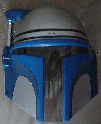 Star Wars Mask (Star Wars Jango Fett Child Kids PVC Costume Mask Rubies Licensed)