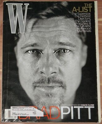 FEBRUARY 2009 W MAGAZINE, BRAD PITT, THE A-LIST, AMERICAN FASHION