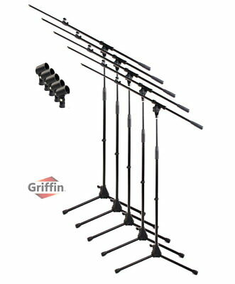 - Microphone Stand with Boom Arm 5 Pack - Griffin Tripod Telescoping Studio Mic
