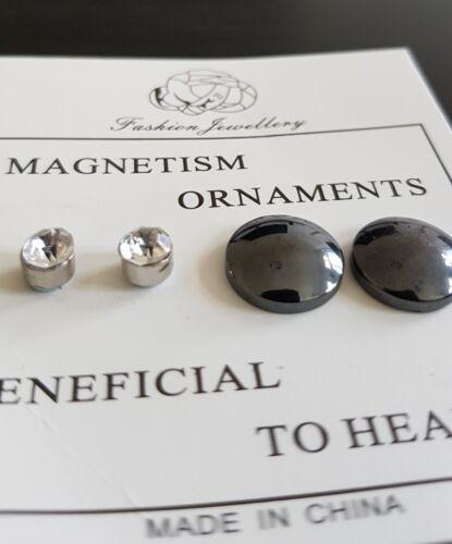 Abnehmen Gewichtsverlust-Ohrringe 2 Paar Akupunktur Magnettherapie Energie Vital