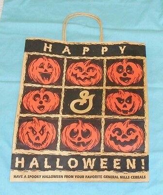 vintage GENERAL MILLS cereal Halloween TRICK-OR-TREAT BAG paper shopping bag