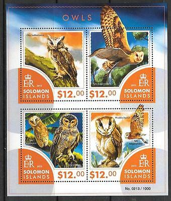 SOLOMON ISLANDS 2015 OWLS (1) MNH