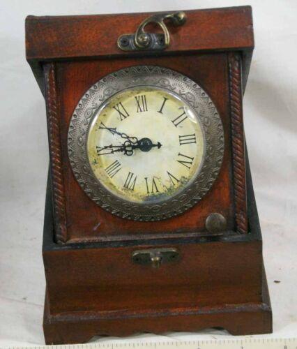 Wooden Clock Trinket Box