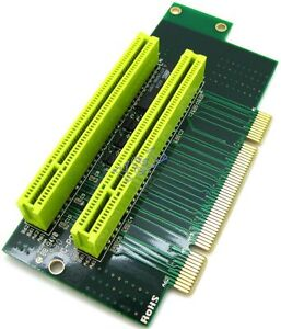 Dual 2 Slot 90 Angel PCI Riser Extender Expansion Card