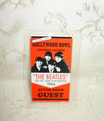 Collector's Series Beatles After Show Guest Hollywood Bowl CA August 23 1964