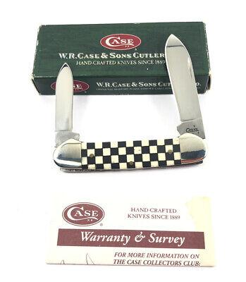 Case XX Checkered Bone Handle Canoe 62131 SS L Pocket Knife 237-QR