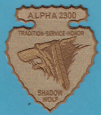 SHADOW WOLF TRIBAL IMMIGRATION / FUGITIVE TRACKING  ICE POLICE PATCH  Arizona