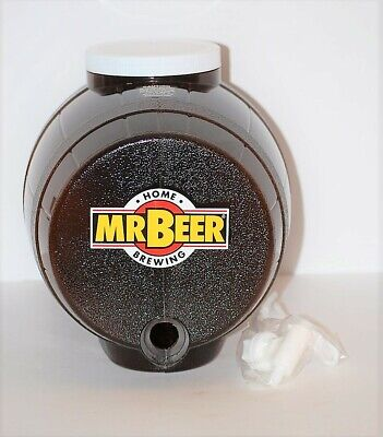 Mr Beer Home Brewing System 2 Gallon Barrel Keg w/ Spout and Lid Original