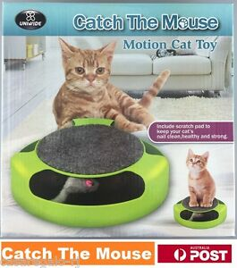 Motion Kitten Cat Toy Catch The Mouse Chase Interactive Cat Training Scratchpad