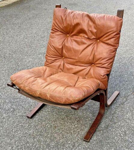 Mid Century Westnofa Siesta Chair Norway Ingmar Relling Original Leather