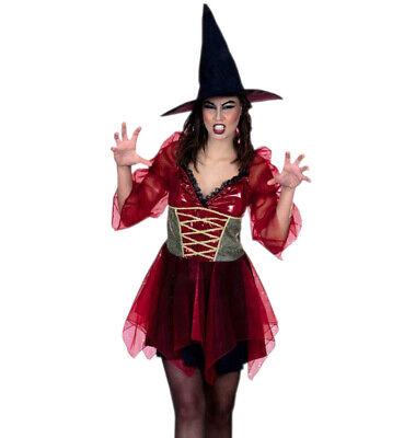 eid und Hexenhut Zauberin Magierin 12003313S (Zauberin Kleid)
