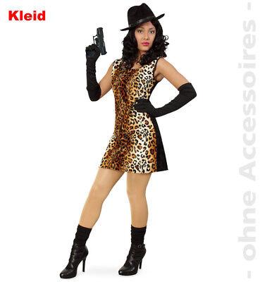 Lady Cat Leopard Gangster Wildkatze Damenkostüm Kostüm Leopardenkostüm