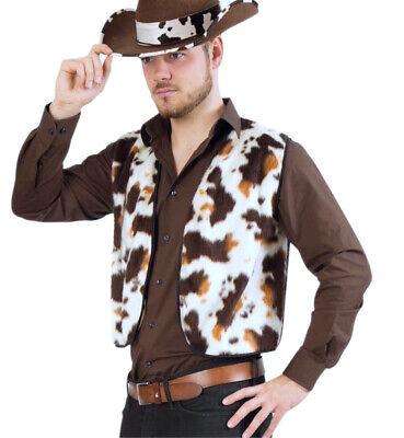 Herrenkostüm Plüschweste mit Pferdemuster Cowboy 12143313F