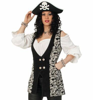 Damenkostüm - Set Piratin Skull, 3-tlg. | Seeräuber, Freibeuter - Räuber Kostüm Damen
