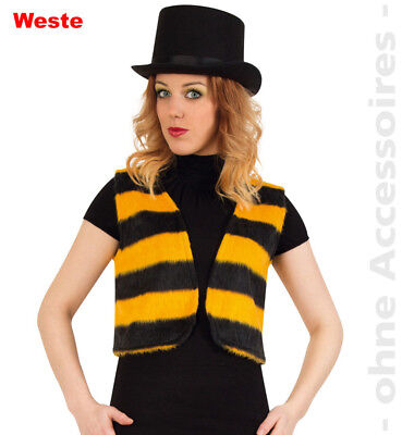Biene Bienenweste Damen Kostüm  Hummel Weste Damenkostüm