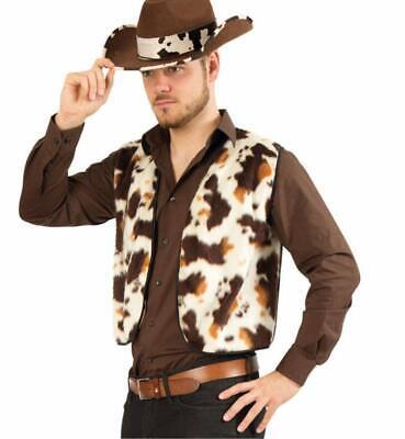 wboy Plüschweste Pferd und Texas-Hut 12985813F (Cowboy Und Pferd-kostüm)