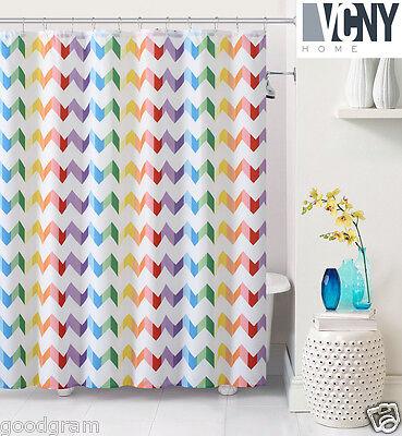 Vcny Pride Heavy Fabric Rainbow Chevron Shower Curtain 72 In X 72 In Ebay