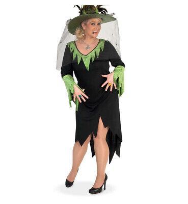 Hexenkleid lang in schwarz Damenkostüm Zauberwald Märchenwelt Magierin - Schwarzwald Kostüm