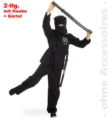 Ninja Kostüm Kinder Ninjaanzug Karatekämpfer Schattenkrieger Kinderkostüm ()