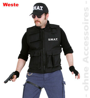 SWAT Kostüm Police Herren SWATweste Weste Herrenkostüm (Swat Kostüm Große)