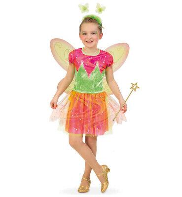 Kinderkostüm-Set Elfe Kleid mit Haarreif Flügeln und Feenstab Fee 12978313F