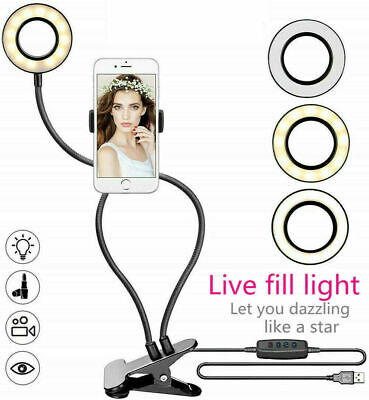 LED Selfie Ring Light with Cell Phone Holder Stand for Live Stream and Makeup Led Cell Phone
