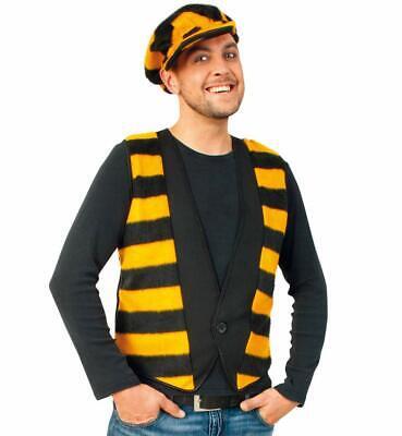 Herrenkostüm-Set Biene, 2-teilig, Tierkostüm Hummel Honigbiene - Honig Biene Kostüm Set