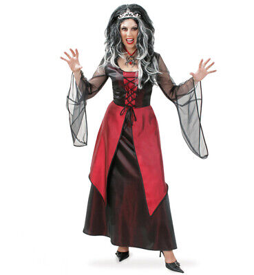 Damenkostüm Vampir Kleid in Rot Halloween Blutsauger 12120113F