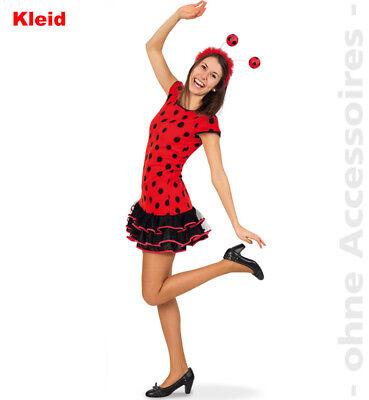 Lady Bug Damenkostüm Marienkäfer Käferkleid Junikäfer Teenager Damen - Lady Käfer Kostüm