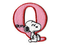 """1.5X1.5/"""" Snoopy letter S Embroidered IRON ON Patch Sew On green alphabet dog"""