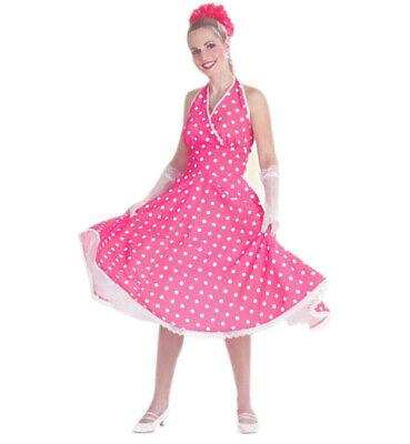 Petticoat-Kleid für Damen Rockabilly-Kostüm, Größe 36-44, Rock 'n Roll 12950713K