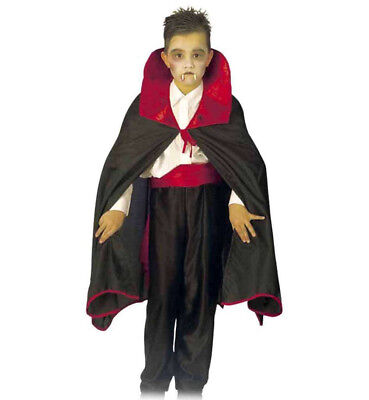 Kostüme Mit Rotem Cape (Kinderkostüm Dracula Umhang in schwarz mit rotem Kragen Vampir Cape 12216913F)