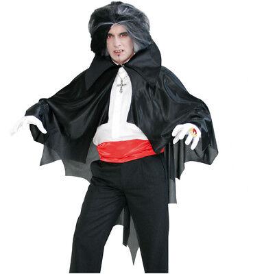 Fledermaus-Cape, schwarzer Kostüm-Umhang für Erwachsene, Halloween 12144713F ()