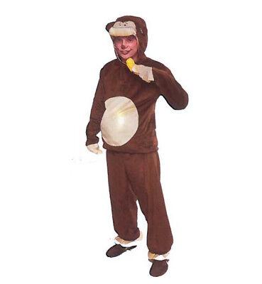 Affenkostüm Einheitsgröße für Kinder 2-tlg. Hose und Oberteil Banane 129475013K