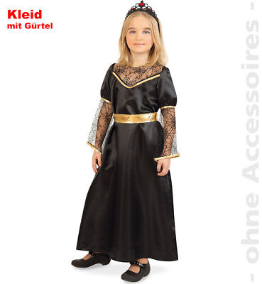 Dunkle Königin Kostüm Black Queen Kinder schwarze Fee Kinderkostüm