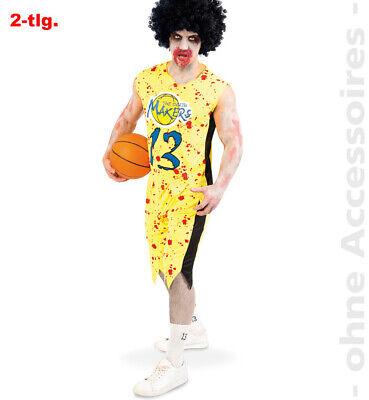 Zombie Basketballer Herrenkostüm Blutig Horror Sportler Herren Halloween - Basketball Zombie Kostüm
