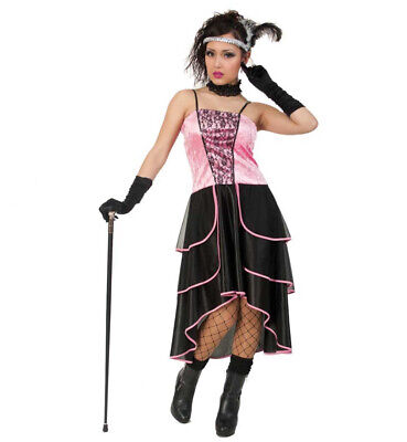 Damenkostüm Saloon Girl Kleid Western Wilder Westen Saloon - Rosa Cowgirl Kostüme