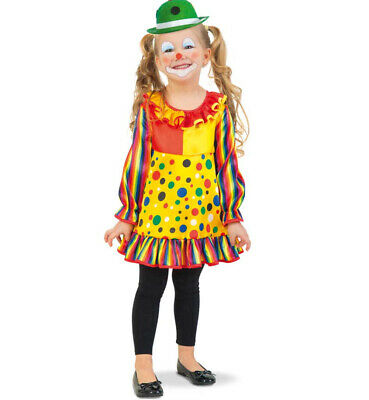 Kinderkostüm-Set Clown Kleid mit MiniMelone in grün mit bunten Punkten 12978013F (Clown Kleid Kind Kostüme)